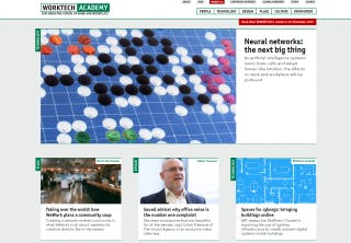Home page, showing blocks of content and space for bold imagery.