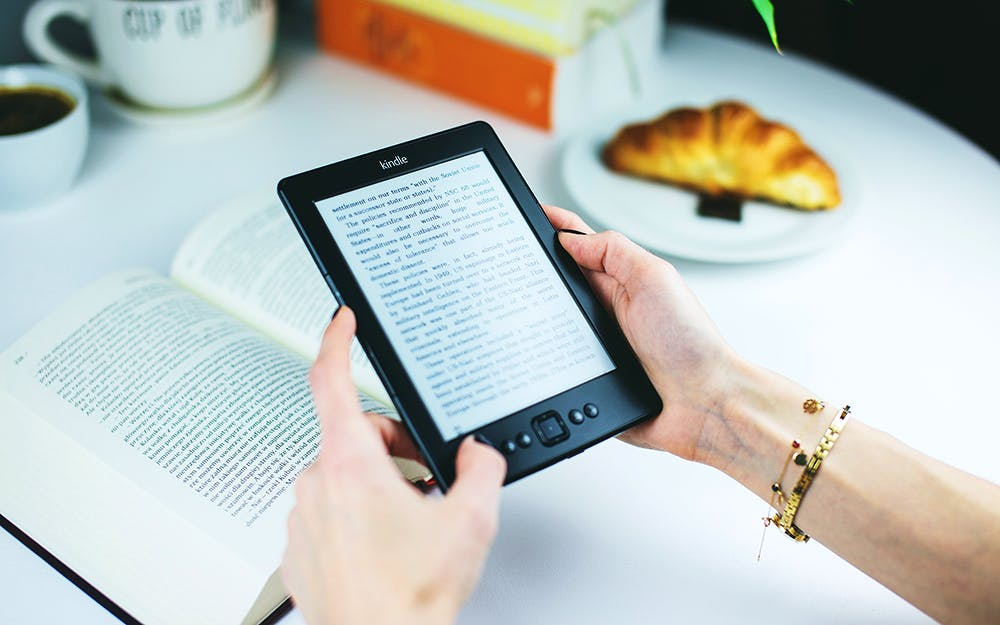 Image shows a Kindle