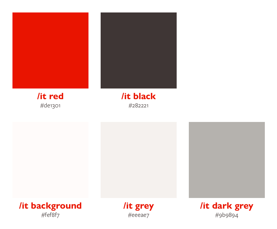 The colour palette we use at interconnect/it